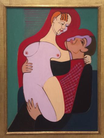 Ernst Ludwig Kirchner (1880-1938), Groot liefdespaar (echtpaar Hembus), 1930, Kirchner Museum Davos.