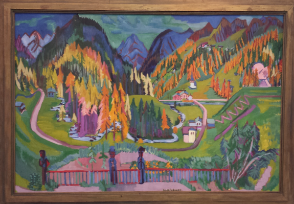 Ernst Ludwig Kirchner (1880-1938), Het Sertigdal in de herfst, 1925-1928, Kirchner Museum Davos.