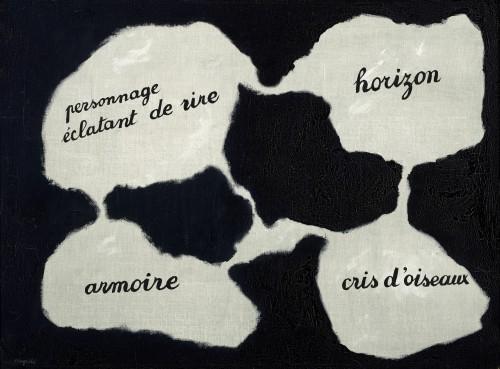 René Magritte, Le miroir vivant, 1928, olieverf op doek, Museum Boijmans Van Beuningen.