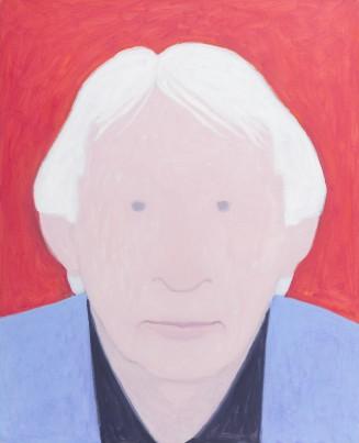 Jan Roëde, Zelfportret, ongedateerd, acryl op doek, 100 x 81 cm, collectie Drents Museum, schenking Jan Roëde Stichting.