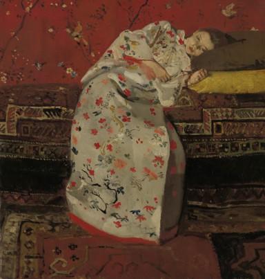 George Hendrik Breitner, Meisje in witte kimono, 1895 Rijksmuseum Twente, Enschede.