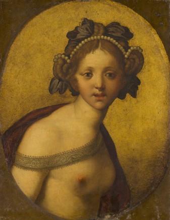Anoniem (Italië) Vrouwelijke figuur (Een godin?), ca.1500-1550? Mauritshuis, Den Haag.