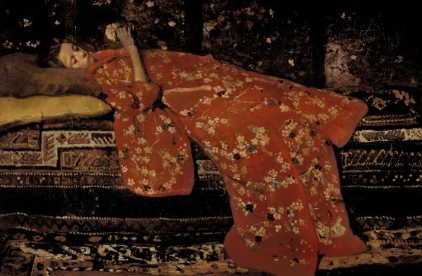 George Hendrik Breitner, De rode kimono, 1896, Stedelijk Museum, Amsterdam.