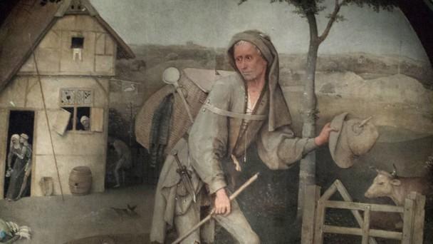 Jheronimus Bosch, De Landloper (detail), 1500-10, Museum Boijmans Van Beuningen, Rotterdam. Foto: Evert-Jan Pol.