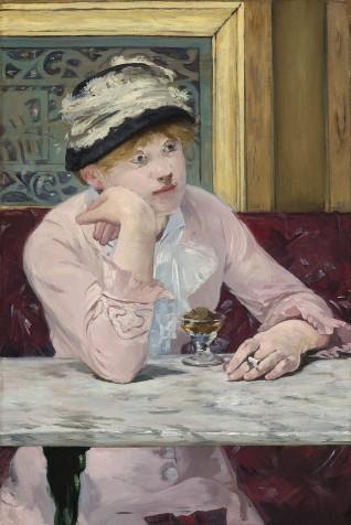 Édouard Manet (1832-1883), De pruim of Pruimenbrandewijn, 1878, olieverf op doek, National Gallery of Art, Washington.