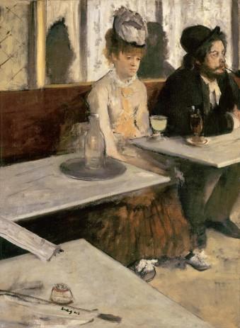 Edgar Degas (1834-1917), Absint, 1875-1876, olieverf op doek, Musée d'Orsay, Parijs.