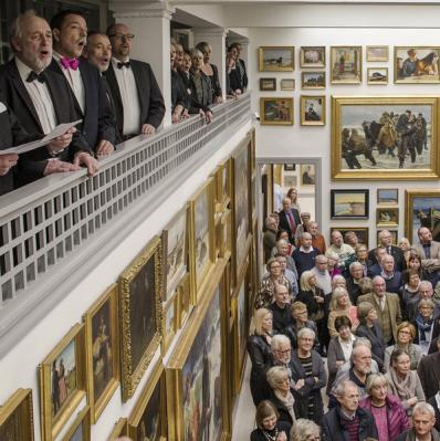 Skagens Museum tijdens de heropening. Foto: Skagens Museum (via Instagram).
