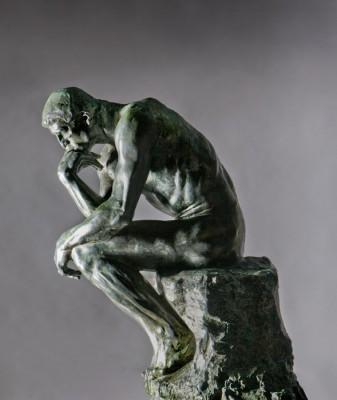 Auguste Rodin, De Denker, exemplaar uit de collectie van Singer Laren.