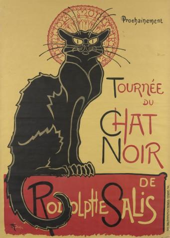 Théophile Alexandre Steinlen, Affiche voor de tournee van Le Chat Noir, 1896
