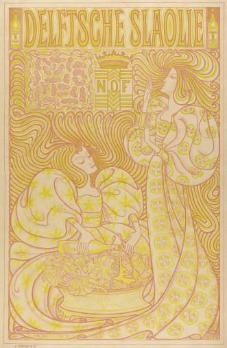 Jan Toorop (ontwerp), Delftsche Slaolie, 1895 Affiche, kleurenlithografie, collectie Gemeentemuseum Den Haag