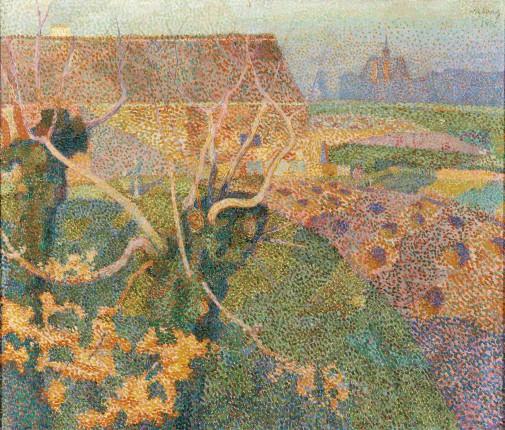 Jan Toorop, Novemberzon, 1888, olieverf op doek, collectie Gemeentemuseum Den Haag.
