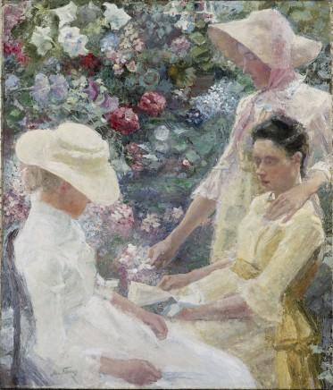 Jan Toorop, Trio Fleuri, 1885 olieverf op doek, collectie Gemeentemuseum Den Haag.