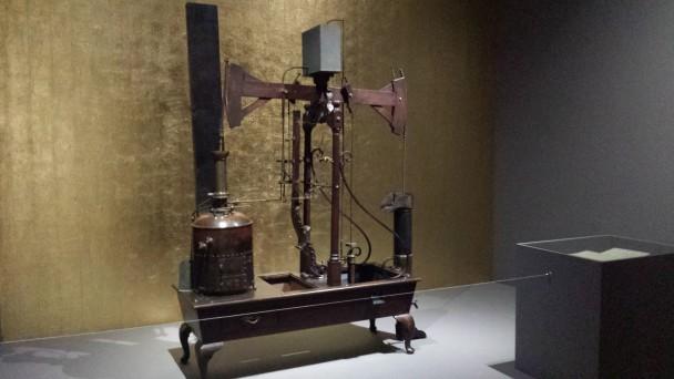 Stoompomp van Jan Paauw uit 1774, Museum Boerhaave, Leiden. Foto: Evert-Jan Pol.