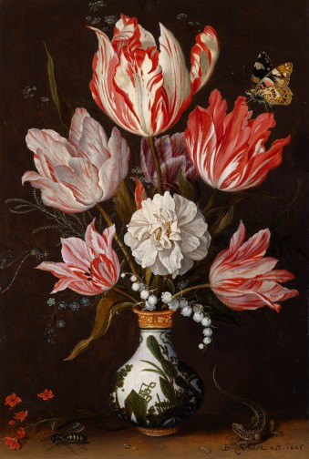 Balthasar van der Ast, Bloemen in een porseleinen vaas, 1625, Johnny van Haeften Ltd., Londen.
