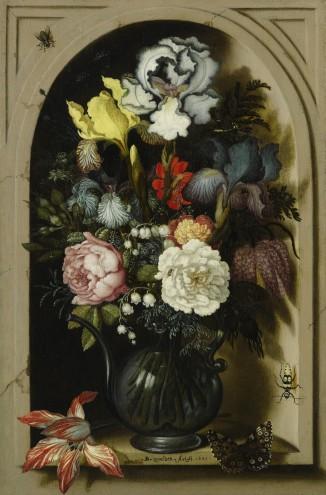 Balthasar van der Ast, Kan met bloemen in een nis, 1621, privécollectie.