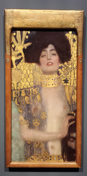 Gustav Klimt (1862-1918), Judith I, 1901, olieverf en bladgoud op doek, Österreichische Galerie Belvedere, Wenen.