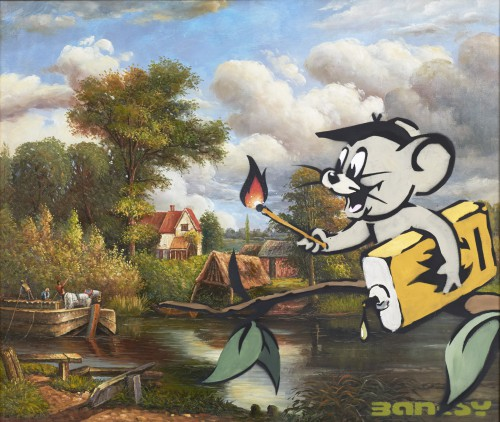 Banksy, Corrupted oil - Jerry, 2003.