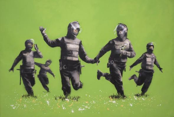 Banksy, Beanfield, 2009.