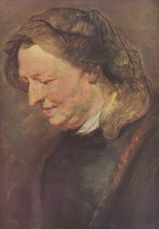 Peter Paul Rubens, Portret van een oude vrouw (vermoedelijk Maria Pypelinckx).