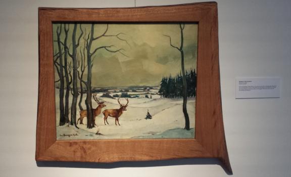 Chris ten Bruggen Kate, Herten in de sneeuw, particuliere collectie.
