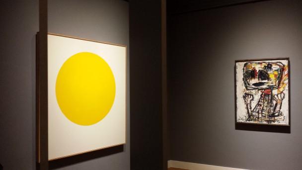 Links: Yellow Rose van Walter Darby Bannard. Rechts: Fille en pleurs van Karel Appel, collectie Geert Steinmeijer.
