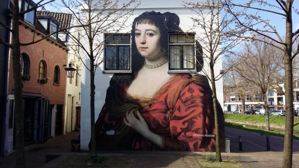 Portret van Amalia van Solms door Gerard van Honthorst aan de Van Asch van Wijckskade in Utrecht.