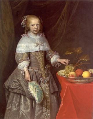 Jan Albertsz Rotius, 8-jarig meisje met fruitschaal.