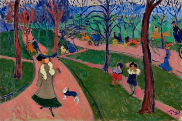 André Derain, Hyde Park, 1906, olieverf op doek, 66 x 99 cm, Troyes, Musée d'Art moderne, collections Nationales Pierre et Denise Lévy.