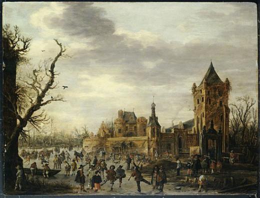 Het betreffende schilderij van Jan van Goyen.