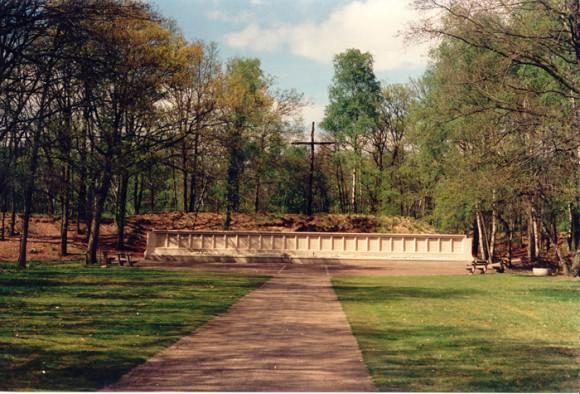 Fusilladeplaats op het terrein van Nationaal Monument Kamp Vught.