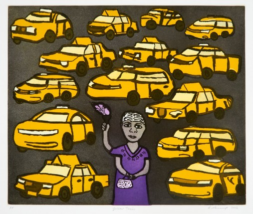 Laurel Nannup, Yellow Taxi, 2012.