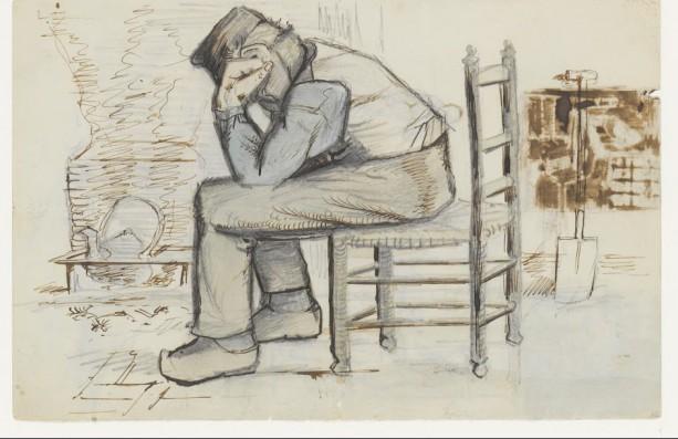 Schetsen van Vincent van Gogh bij een brief aan Theo van Gogh, 8 - 22 september 1881, pen in inkt op papier, Van Gogh Museum, Amsterdam (Vincent van Gogh Stichting).