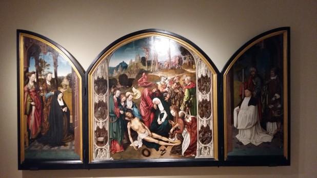 Cornelis Engebrachtsz, Drieluik met de Bewening van Christus, ca. 1508-10, Museum De Lakenhal, Leiden.
