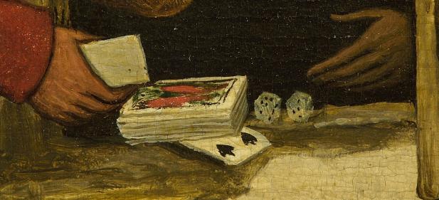 Screenshot. Detail uit Spreekwoorden van Pieter Bruegel de Oude.