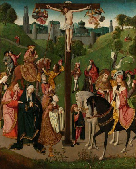 Meester van de Kruisafneming van Figdor, Christus aan het kruis, ca. 1505, olieverf op paneel, collectie Rijksmuseum.