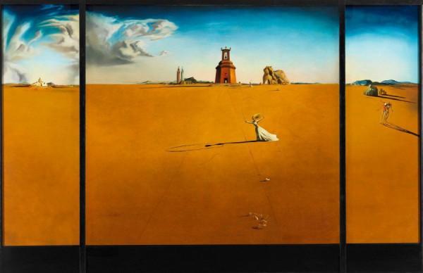 Salvador Dalí, Landschap met touwtje springend meisje, 1936, Museum Boijmans Van Beuningen, Rotterdam.