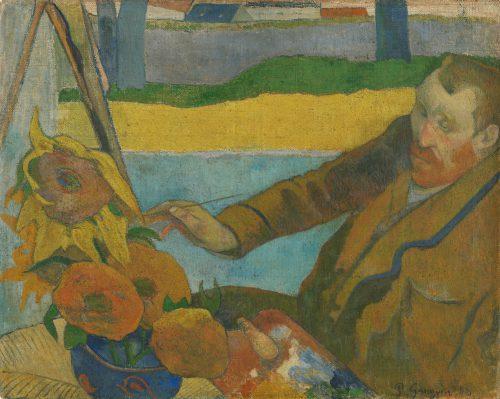Paul Gauguin, Vincent van Gogh zonnebloemen schilderend, 1888.