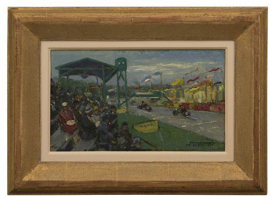 Joop Kropff, Ter herinnering aan de TT races te Assen, 24 juni 1933, olieverf op doek op paneel, Drents Museum, Assen.