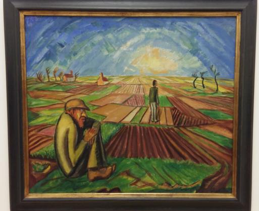 Erich Heckel, Vlaamse vlakte, 1916, Städtisches Museum Abteiberg, Mönchengladbach.