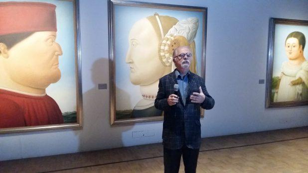 Fernando Botero voor enkele van zijn hommages. Foto: Evert-Jan Pol.