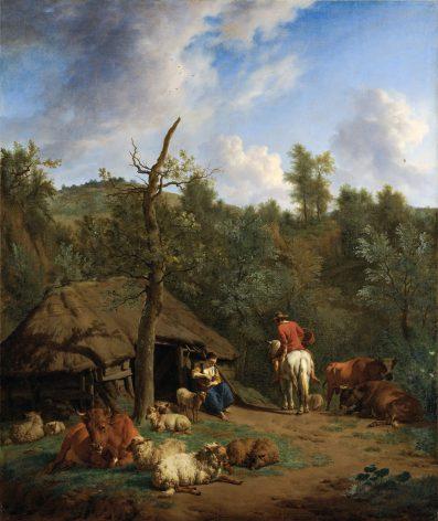 Adriaen van de Velde, De hut, 1671, Rijksmuseum, Amsterdam.
