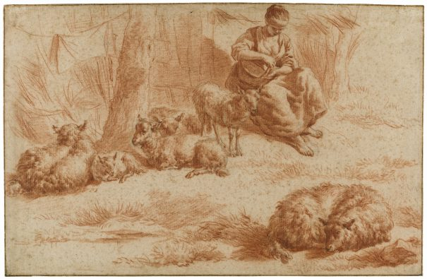 Adriaen van de Velde, Een herderin met schapen, ca. 1671, Amsterdam Museum.