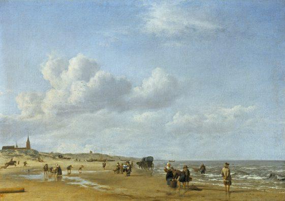 Adriaen van de Velde, Het strand bij Scheveningen, 1658, Gemäldegalerie Alte Meister Kassel.