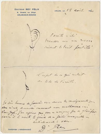 Brief van Félix Rey aan Irving Stone, 18 augustus 1930.