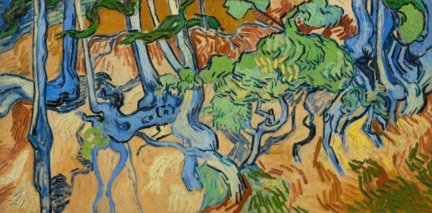 Vincent van Goghs laatste schilderij, Boomwortels, olieverf op doek, juli 1890, Van Gogh Museum, Amsterdam (Vincent van Gogh Stichting).