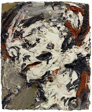 Frank Auerbach, Head of Gerda Boehm, 1965, olieverf op paneel.