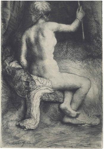 Rembrandt, De vrouw met de pijl, 1661. Foto: Christie's Images Limited.