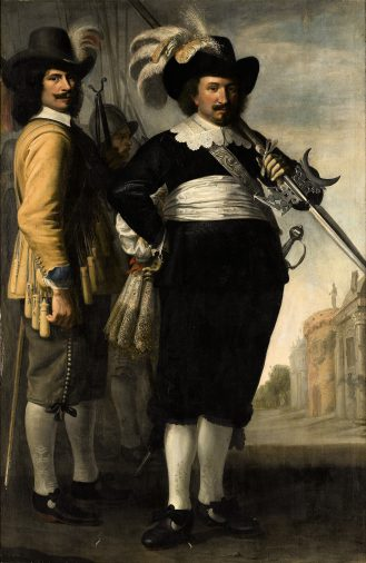 Jacob Delff II, Portret van Willem Reyersz. de Langue en Daniël Fransz. van der Brugge, 1648, collectie Museum Prinsenhof Delft.