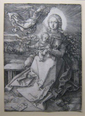 Albrecht Dürer, Maria, von einem Engel gekrönt, Staatsgalerie Stutgart.