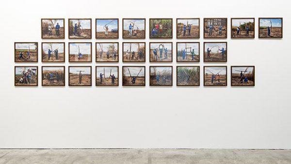 Jonathas de Andrade, ABC da Cana (Sugarcane ABC), 2014, 26 foto's, 30 x 35 cm elk. Courtesy: Galleria Continua. Foto: Oak Taylor-Smith.